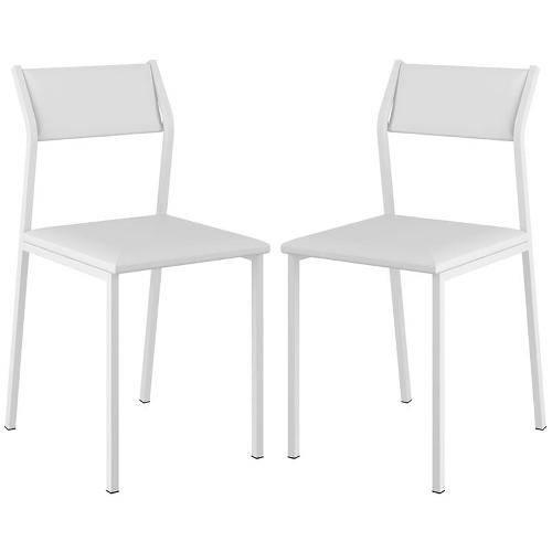 Cadeira 1709 2 Unidades Branco - Carraro