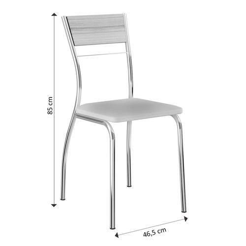 Cadeira 1721 Cromada 02 Unidades Anis/cacau Carraro