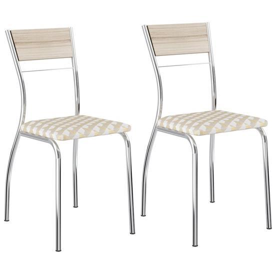 Cadeira 1721 Cromada 2 Unidades - Carraro 1721.2 17212