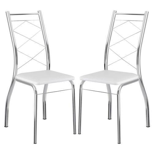 Cadeira 1710 Cromada 02 Unidades Branca Carraro