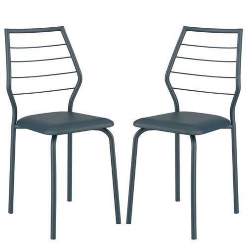 Cadeira 1716 02 Unidades Azul Noturno Carraro