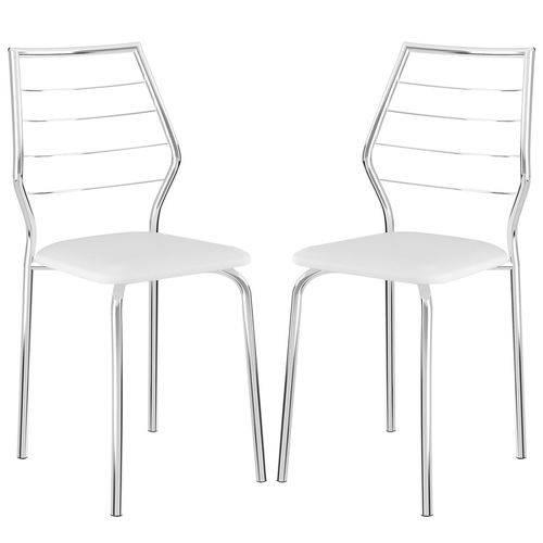 Cadeira 1716 02 Unidades Branca/cromada Carraro