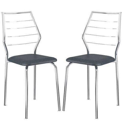 Cadeira 1716 Cromada 02 Unidades Jeans Carraro