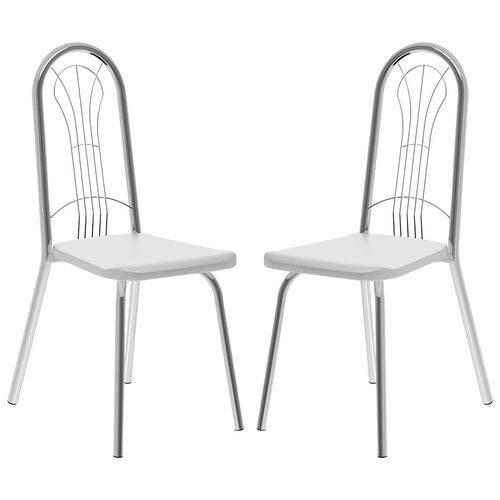 Cadeira 182 Cromada 02 Unidades Branca Carraro