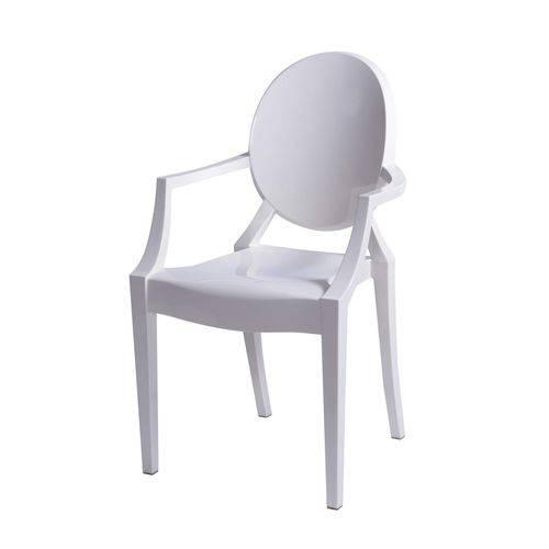 Cadeira Acrílica com Braço OR Design Branco