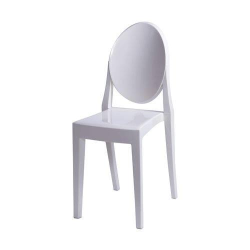 Cadeira Acrílica Sem Braço OR Design Branco