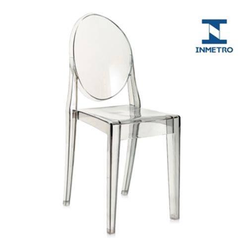Cadeira Acrílica Victoria Ghost - Miss Sophia - Fumê