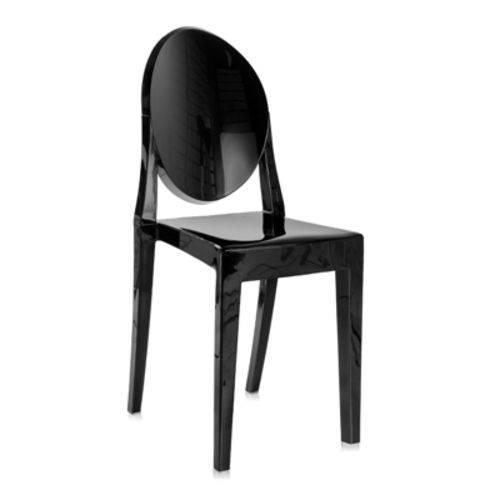 Cadeira Acrílica Victoria Ghost - Miss Sophia - Preto