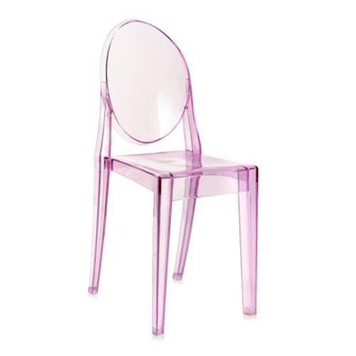 Cadeira Acrílica Victoria Ghost - Miss Sophia - Roxo