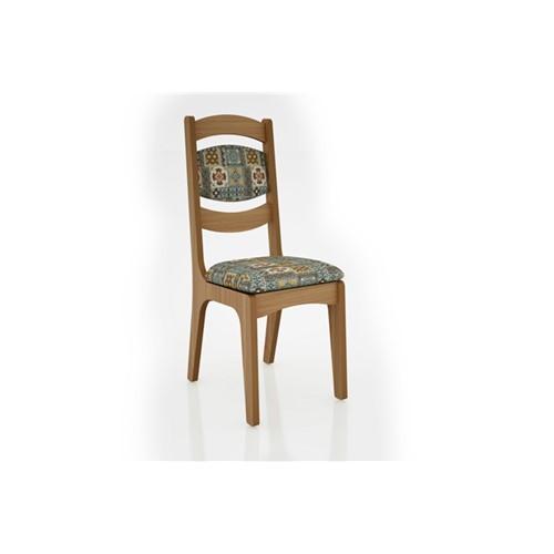 Cadeira Alta 25mm Assento e Encosto Estofado CA27 Dalla Costa Freijó com Ladrilho