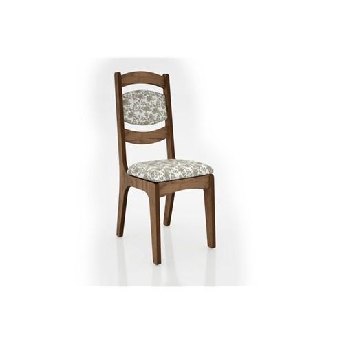 Cadeira Alta 25mm Assento e Encosto Estofado CA27 Dalla Costa Nobre com Floral Claro