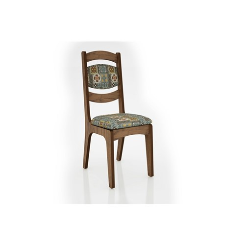 Cadeira Alta 25mm Assento e Encosto Estofado CA27 Dalla Costa Nobre com Ladrilho