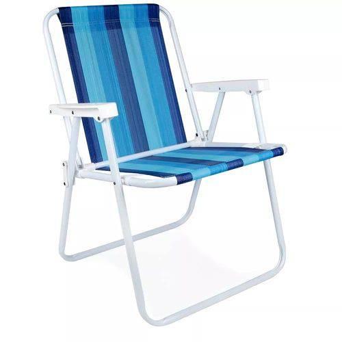 Cadeira Alta Aço Azul - Mor 2002