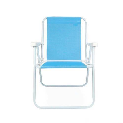 Cadeira Alta Aço Sannet Mor Azul