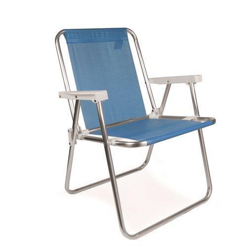 Cadeira Alta Alumínio Azul Royal 2274 Mor