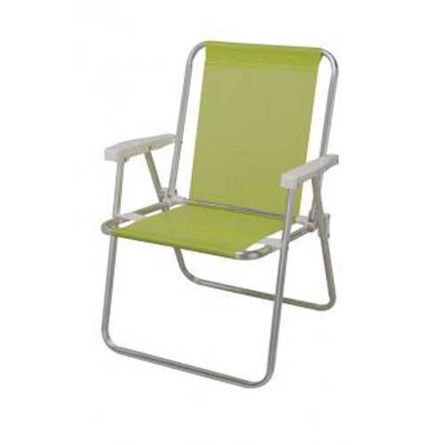 Cadeira Alta Alumínio Sannet Verde Mor