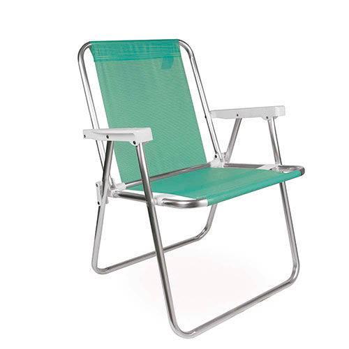 Cadeira Alta Aluminio Tela Sannet Verde-Maca - Mor