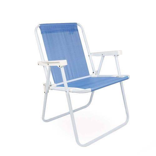 Cadeira Alta Azul
