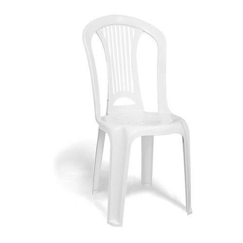 Cadeira Atlântida Economy Sem Braço Branco Basic - Tramontina