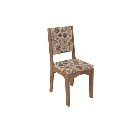 Cadeira CA19/2 Assento e Encosto Estofado - Chenile Floral 2