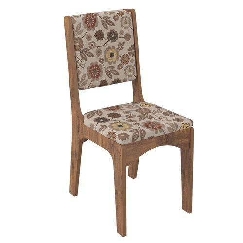 Cadeira CA19 Dalla Costa - Caixa com 2 Unidade - Nobre/Chenille Floral