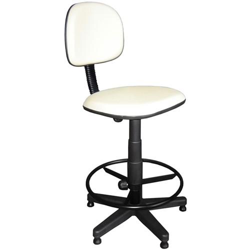 Cadeira Caixa Giratória Couro Ecológico Branca CE177 Pethiflex