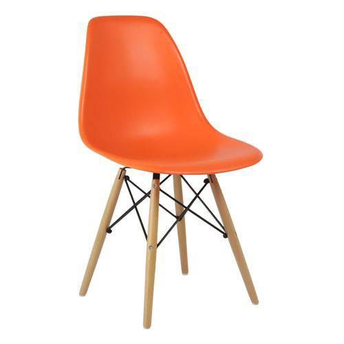 Cadeira Charles Eames Eiffel Base Madeira - Laranja Laranja
