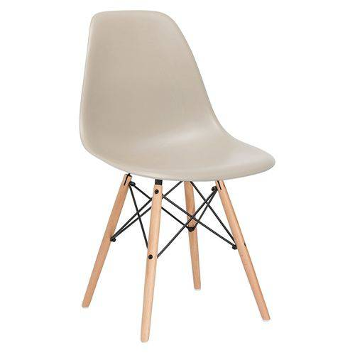Cadeira Charles Eames Eiffel DSW - Bege - Nude - Madeira Clara