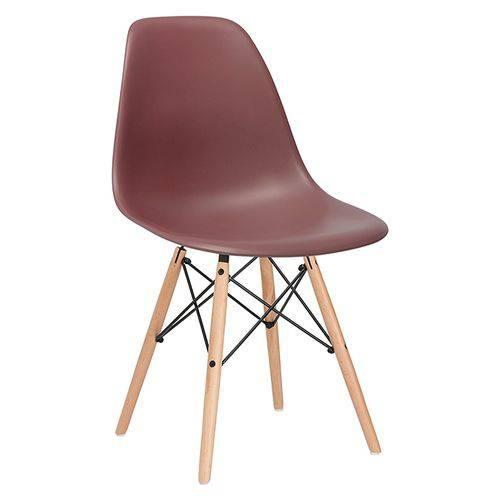Cadeira Charles Eames Eiffel DSW - Marrom - Madeira Clara