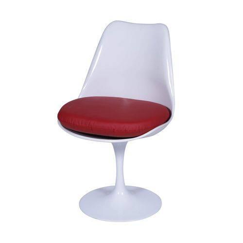 Cadeira com Almofada OR Design Branco/Vermelho