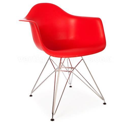 Cadeira com Braço Or Design Eames Dar 21 Vermelho