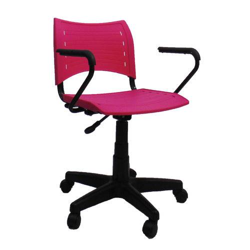 Cadeira com Braço Preto Evidence-Rosa