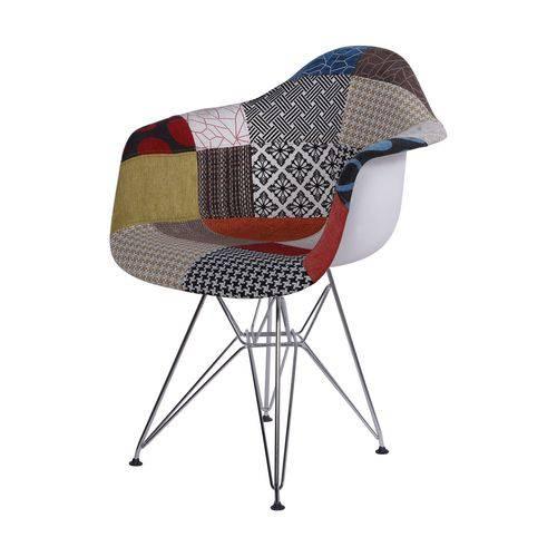 Cadeira com Braços Eames em Metal 1121 OR Design Patchwork
