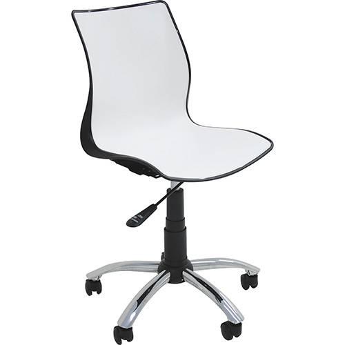 Cadeira com Rodízio Maja Preto/Branco Tramontina