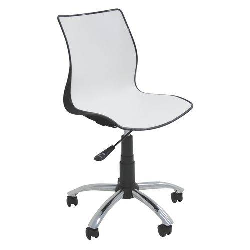 Cadeira com Rodizio Maja Preto/Branco