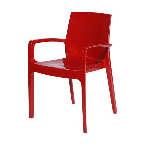 Cadeira Cream Cozinha Jantar 57,7x40x82cm Vermelho