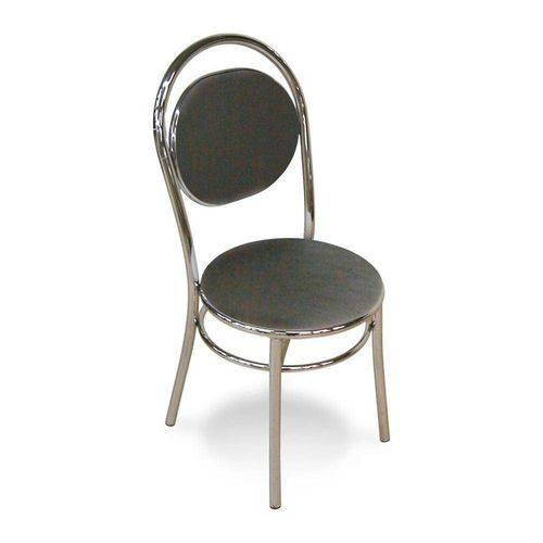 Cadeira Cromada 0190 Preta Carraro