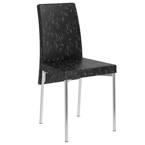 Cadeira Cromada 306 02 Unidades Carraro | Cor: Fantasia Preto