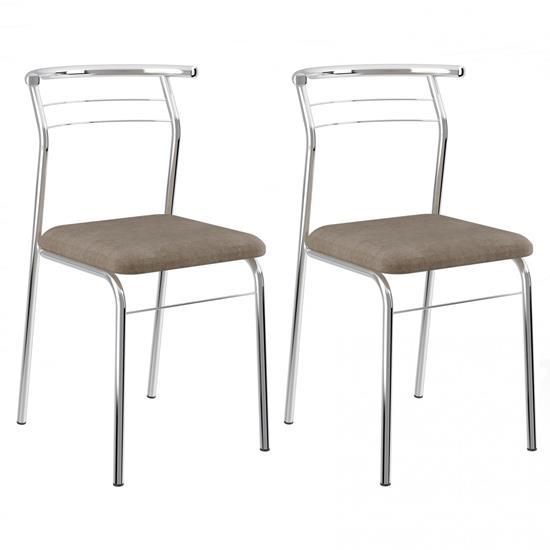 Cadeira Cromada 1708 02 Unidades - Carraro 1708