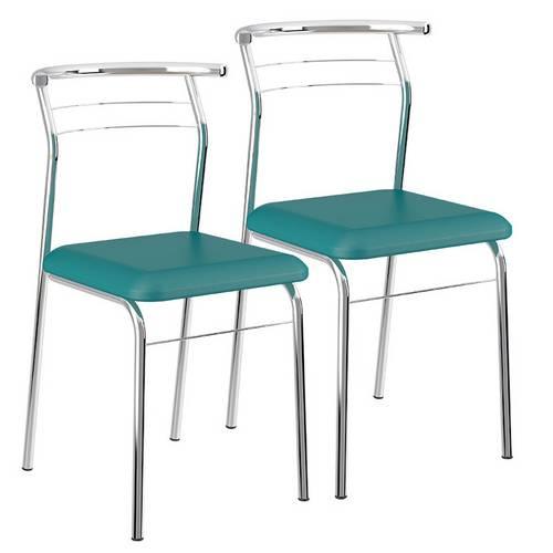 Cadeira Cromada 1708 02 Unidades Carraro | Cor: Cromada