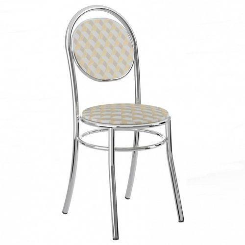 Cadeira Cromada 190 04 Unidades - Carraro, | Cor: Branca