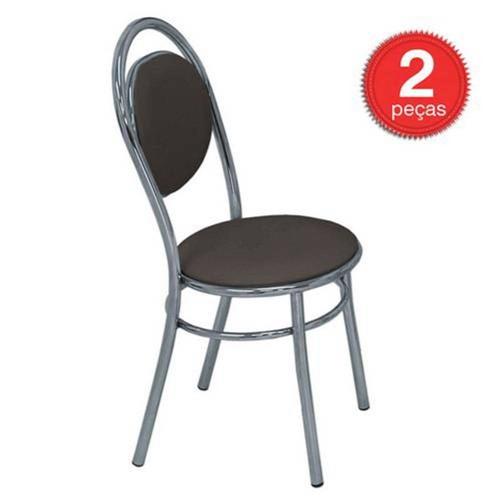 Cadeira Cromada 190 04 Unidades - Carraro, | Cor: Cacau