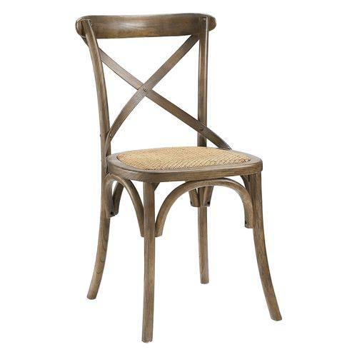 Cadeira Cross - Katrina - Ratan - Madeira Natural