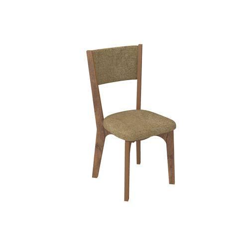 Cadeira Curva Estofada - Nobre/Chenille Marrom CA22/2 NM - Dalla Costa