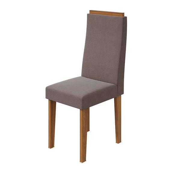 Cadeira Dafne Velvet Rosê - Rovere Naturale