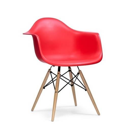 Cadeira Dar Madeira Mobitaly - Vermelha