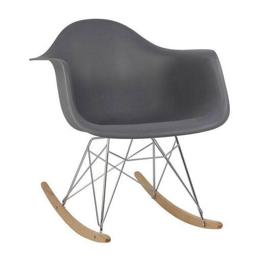 Cadeira de Balanço Eames DAR Cinza de Polipropileno 1122 Or Design