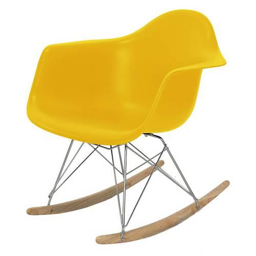 Cadeira de Balanço Or Design Eames Dar Amarelo