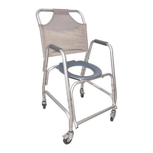 Cadeira de Banho Sanitária Mobil de Aluminio e Rodas New Lux