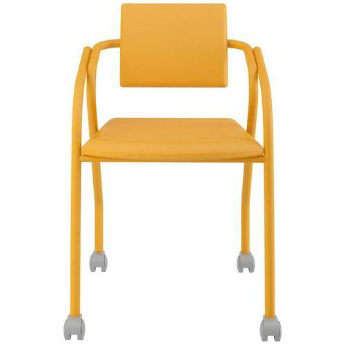 Cadeira de Escritório 1713 com Rodízios Amarelo - Carraro